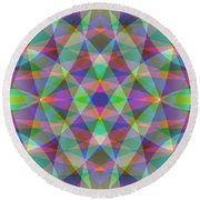 Entangled Curves Three Round Beach Towel