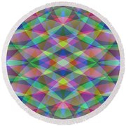 Entangled Curves Two Round Beach Towel