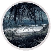 Entangled Dreams Round Beach Towel