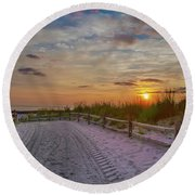 Enter Paradise- Avalon New Jersey Round Beach Towel