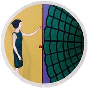 Entering The Web Round Beach Towel
