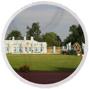 Entrance Katharinen Palace Round Beach Towel