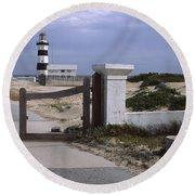 Entrance Of A Lighthouse, Cape Recife Round Beach Towel
