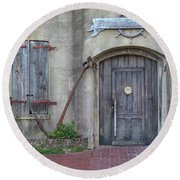 Entrance To An Old Chandlery Round Beach Towel