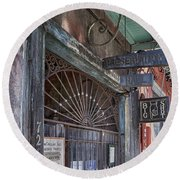 Entrance To Preservation Hall, New Orleans Round Beach Towel