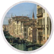 Entrance To The Grand Canal Looking West Round Beach Towel