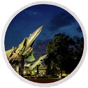 Entrance Wright Patterson Afb Round Beach Towel
