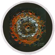 Entranced By A Fiery Vision Round Beach Towel