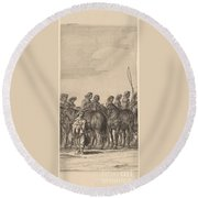 Entry Of Marie De Medici Into Amsterdam [plate 5 Of 6] Round Beach Towel