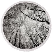 Entwined In The Sky Round Beach Towel