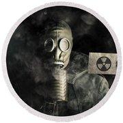 Nuclear Threat Round Beach Towel