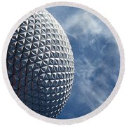 Epcot Architecture Round Beach Towel