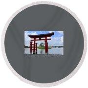 Epcot Japan Round Beach Towel