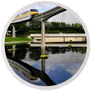 Epcot Reflections Round Beach Towel