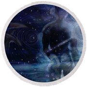 Ephemeral And Illusionary Existence Round Beach Towel