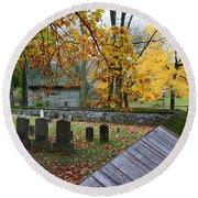 Ephrata Cloister Cemetery Round Beach Towel