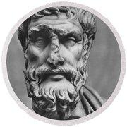 Epicurus (342?-270 B.c.) Round Beach Towel