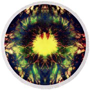 Epiphany Of The Labyrinth Round Beach Towel