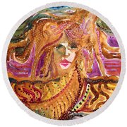 Epona, Protectress, Independence, Vitality Round Beach Towel