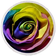 Equality Rose Round Beach Towel