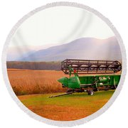 Equipment For Agriculture 2 Round Beach Towel