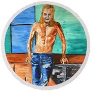 Eric Northman Round Beach Towel