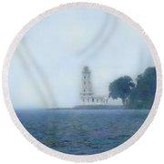 Erie Light House Round Beach Towel