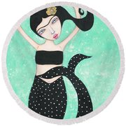 Eris Round Beach Towel