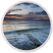 Eroded By The Tides Round Beach Towel