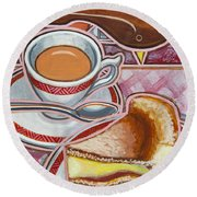 Eroica Britannia And Bakewell Pudding On Pink Round Beach Towel
