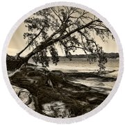 Erosion - Anselized Round Beach Towel