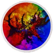 Eruptive Force Round Beach Towel