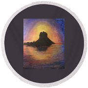 Es Vedra Sunset I Round Beach Towel