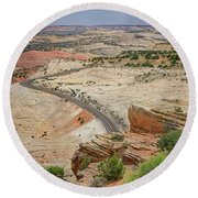 Escalante River Basin Round Beach Towel