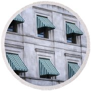 Escambia County Courthouse Windows Round Beach Towel