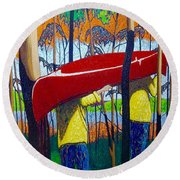 Escape Is At Hand For The Travellin' Man Round Beach Towel