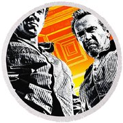 Escape Plan 2013  Round Beach Towel