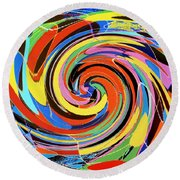 Escaping The Vortex Round Beach Towel