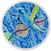 Esoteric Mind Energy Converging  Round Beach Towel