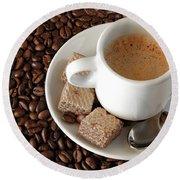 Espresso Coffee Round Beach Towel