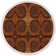 Essence Of Rust - Tiled Round Beach Towel