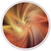 Essential Vibrations Of Light Round Beach Towel