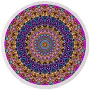 Estate Jewels Mandala No. 2 Round Beach Towel