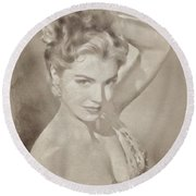 Esther Williams, Vintage Hollywood Actress Round Beach Towel