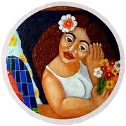 Eternal Eve - II Round Beach Towel