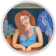 Eternal Eve Round Beach Towel