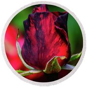 Eternal Love Rose Round Beach Towel