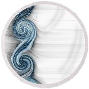 Eternal Wheel  Round Beach Towel