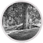 Eternity In The Woods Round Beach Towel