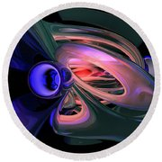 Ethereal Abstract Round Beach Towel